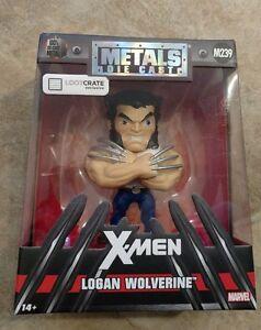 X-MEN-Logan-Wolverine-Metals-Die-Cast-M239-Loot-Crate-Exclusive-4-034-Marvel-JADA