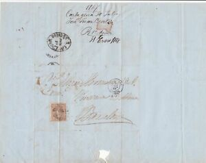 Spain 19th centuary stamps cover Ref 8407