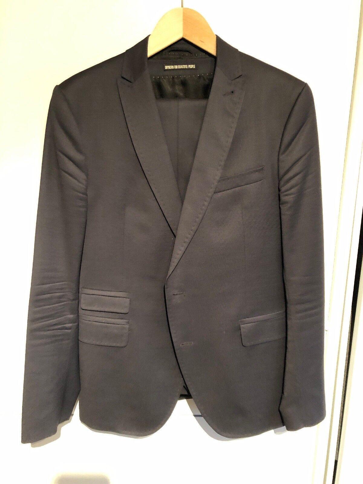 Drykorn Anzug 3 Teiler Blau Gr 50