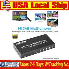 Goronya HDMI 4x1 Quad Multi-viewer Splitter With Seamless