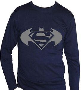 T À Batman Unisexe Femme Manches Sur Vs Longues Superman Wonder Fm10 Shirt Détails EID29YWH