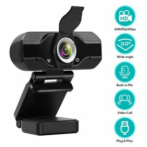 1080P-Webcam-Auto-Focus-Camera-w-Cover-Built-in-Microphone-For-PC-Laptop-Desktop