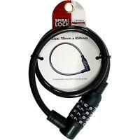 BIKE LOCK BICYCLE LOCK CYCLE LOCK COMBINATION LOCK SPIRAL LOCK 10MM X 650MM NEW