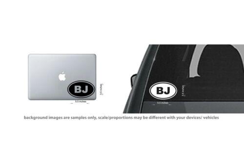 4x BJ Sticker Blowjob Love Head Suck Knees Funny Car Decal Oval Euro