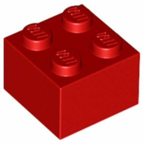 10-20 - 50-100 Stück Lego Basissteine 2x2 rot 3003