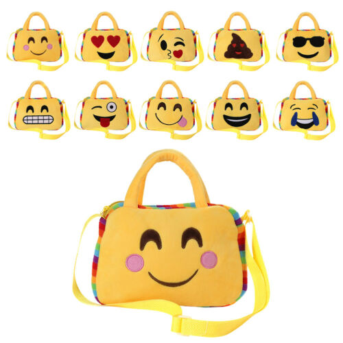 Girl Boy Kids Cute Emoji Face Backpack School Shoulder Bag Crossbody Handbag