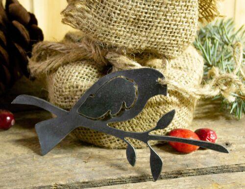 Bird on Branch Metal Christmas Ornament Tree Stocking Stuffer Party Favor Holida