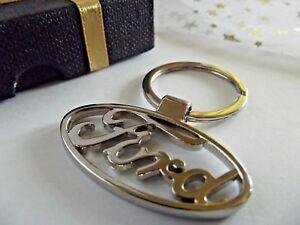 Voiture FORD métalliques en acier pendentif solide Clip voiture clé Boîte Cadeau Fête Anniversaire