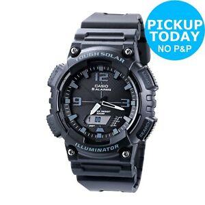 Casio-Men-039-s-Black-Resin-Strap-Solar-Powered-Digital-Watch