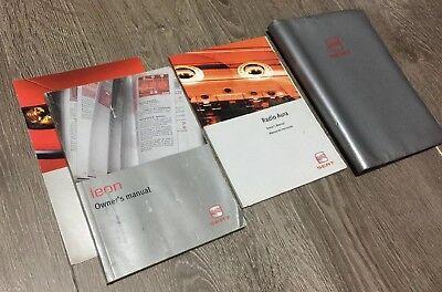 # Seat Leon Mk1 Manuale Del Proprietario Manuale & Cartella Libro Pack 1998-2005 Tdi Cupra T-