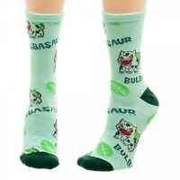 Bulbasaur Pokemon 1 Pair Juniors Crew Socks Nintendo Plant Pokemon Go Bioworld