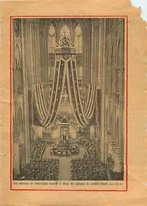 Notre-Dame-de-Paris-Messe-Obseques-Cardinal-Dubois-France-1929-ILLUSTRATION