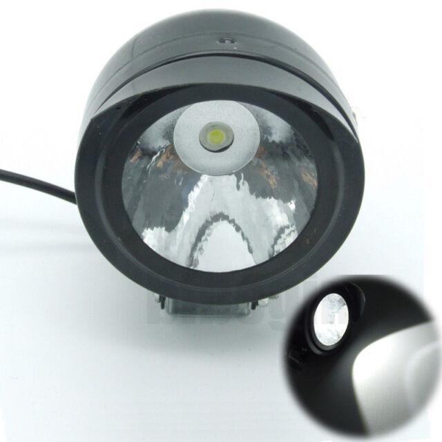 Motorcycle Bike Black Mini LED Spot 12-80V 5W 60mm Scooter ATV  Head Light Lamp