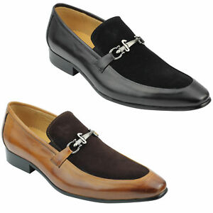 Mens Real Suede Leather Loafers Italian Style Smart Casual Dress Slip on Shoes
