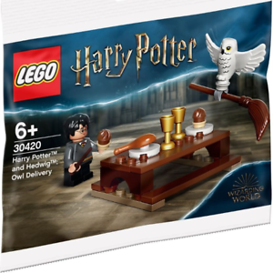Lego Harry Potter King/'s Cross Minifigure Set Trolley and Hedwig the Owl NEW