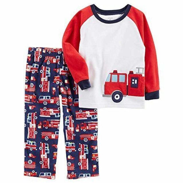 ad281acab Carter s Boy s Fleece Firetruck Pajama Pants Set Size 5 for sale ...