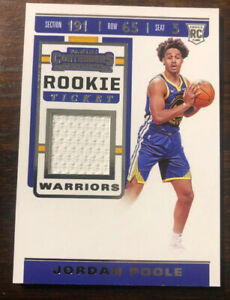 2019-Panini-Contenders-Jordan-Poole-Rookie-Ticket-Jersey-Patch-Card-RTS-JPL