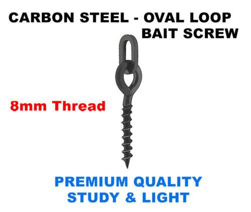 Metal Fishing Bait Screws 12mm 3 Style Black Terminal Rig Tackle Pop Ups Carp UK