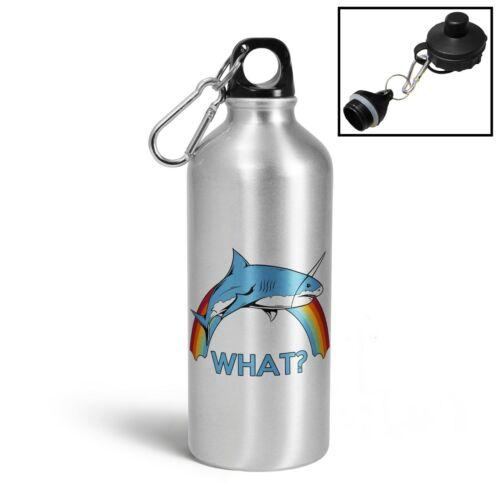 Unicorn Shark Novelty Aluminium Sports Water Bottle