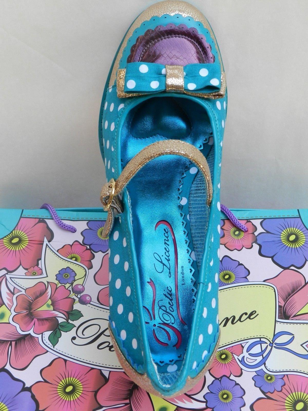 shoes Femme 41 Poetic Licence Final Whistle Whistle Whistle Mary Jane Irregular Choice Neuf da4c21