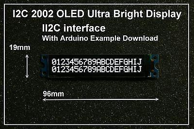 IIC / I2C 2002 20x02 OLED Module Display - For Arduino  / PIC / AVR / ARM