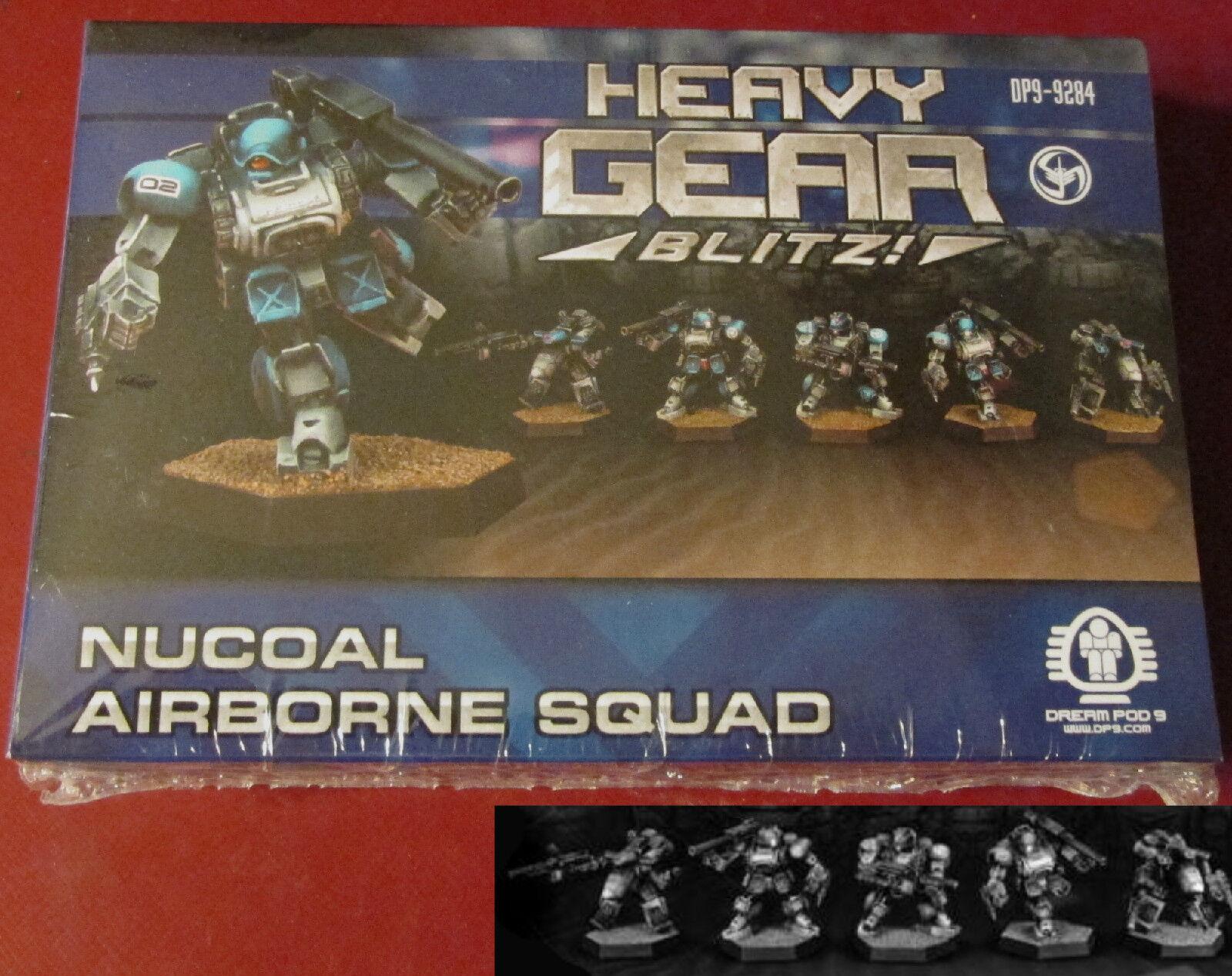Heavy Gear Blitz DP9-9284 NuCoal Airborne Squad (5) Miniatures Paratrooper Gears