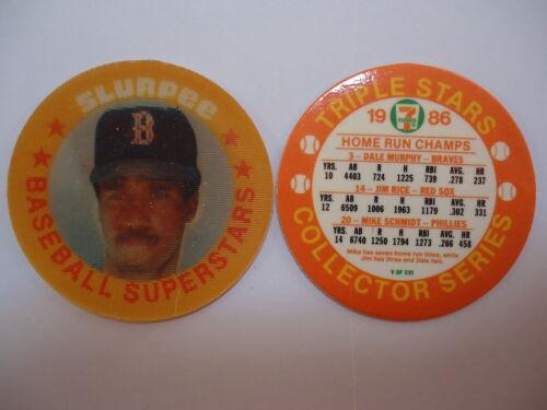 HR Champs 1986 7-11 Triple Stars Collector Coin #5//16 D Murphy//J Rice//Schmidt