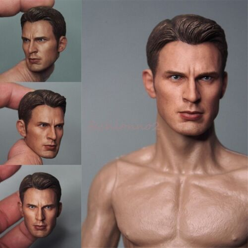"1//6th Captain America Steve Rogers Head Sculpt F 12/"" Male Body Model Figure Toy"