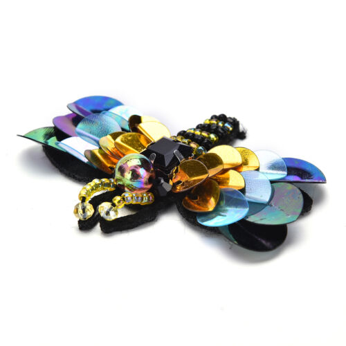 Sequin Beading Bee Patches Sewing On Patches Applique Badge Garment DIY Craft SE