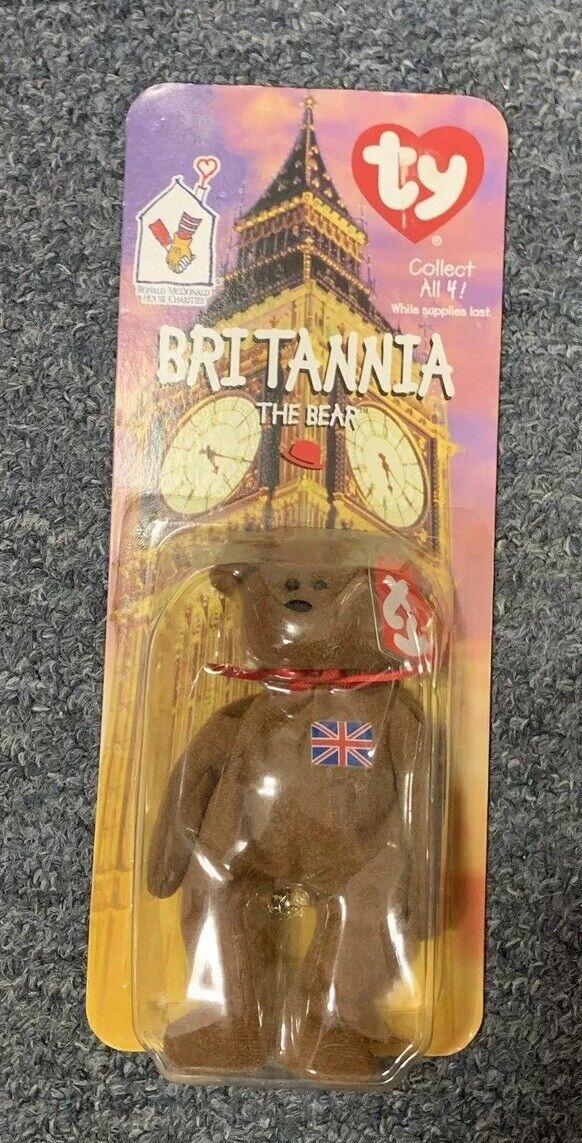 Britannia The Bear-Britain (McDonalds) Ty Beanie Babies (1999)