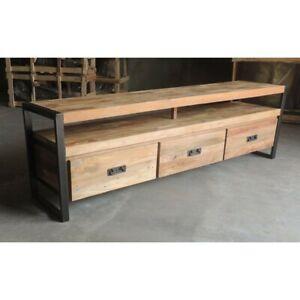 Meuble de TV/ television NEUF bois métal style industriel