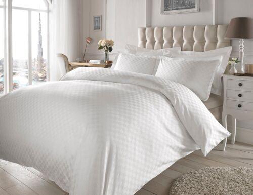100/% coton 300TC de luxe jacquard carré carreaux couette couverture ensemble de literie