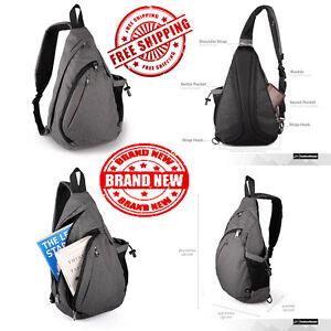 9edb0b6f269a Details about Outdoor Master Sling Bag Small Crossbody Street Travel  Backpack Men Women Gray