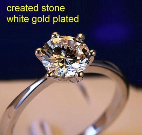 1ct 6mm single round DIAM0ND ring size K 5.5