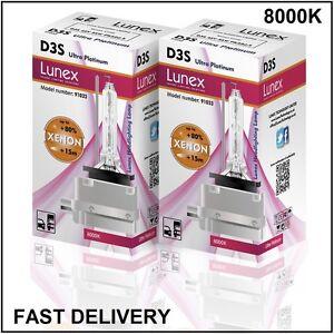 2-x-D3S-NEUF-LUNEX-XENON-HID-AMPOULE-LAMPS-compatible-avec-66340-9285304244-UPT