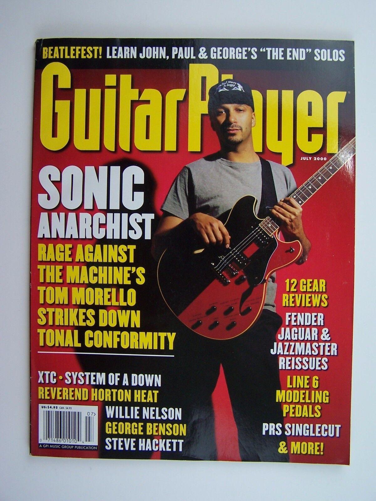 Guitar Player Magazine July 2000 Tom Morello Cover