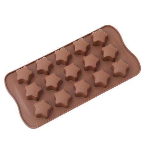 Window Shape Chocolate Cake Topper Stripe Silicone Baking Mould Tool FI