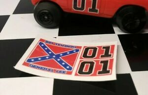 Repro-Decals-Knickerbocker-Dukes-of-Hazzard-General-Lee-Rebel-STICKERS-no-car