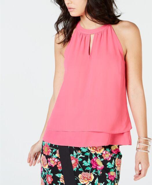 Thalia Sodi Women's Halter Top Raspberry Pink Size Extra Large