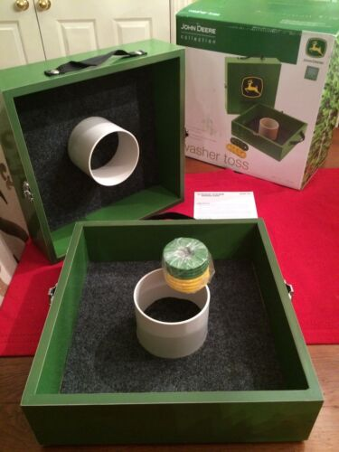 New John Deere washer toss game set official tournament quality!