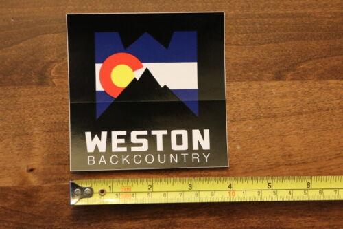 WESTON BACKCOUNTRY Snowboards STICKER Decal NEW Splitboard Colorado