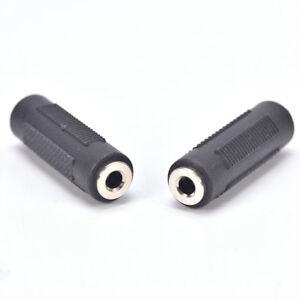 "6x Mono 3.5mm 1//8/"" Aux Female Jack to Female Jack Audio Coupler Adapter F//F Gold"