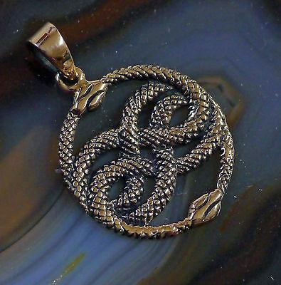 Auryn Anhänger Lederschnur Symbol Unendlichkeit Bronze Mittelalter Erneuerung