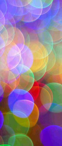 Eck duschrückwand plano posterior ducha ALUMINIO abstarkt multicolor círculos dus191