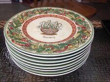 Villeroy Boch Festive Memories Plates Snowdrop  New 8 1/2 inc