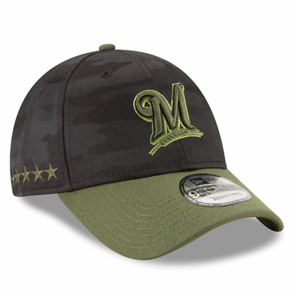 new arrival 41ea4 7c832 Milwaukee Brewers Era 2018 Memorial Day 9forty Adjustable Hat   eBay