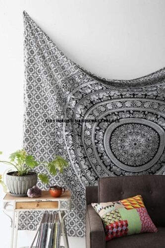 Indian Mandala Tapestry Wall Hanging Queen Bedding Bedspread Throw Dorm Decor