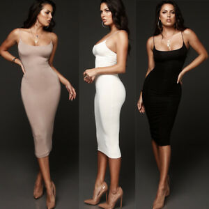 Women-039-s-Sleeveless-Bandage-Bodycon-Evening-Party-Cocktail-Club-Short-Mini-Dress