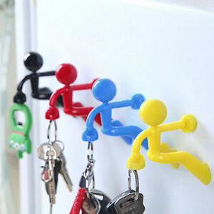 Creative-Fun-Magnetic-Man-Fantastic-Magnetic-Key-Holder-Black-Green-Red-amp-Blue