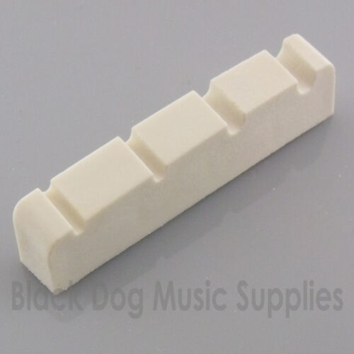 Graphite bass guitar top nut 40mm four string in black white or Ivory